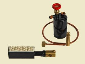 Bix 026 Ceramic Burner, Gas Tank & 135 mm Pipe Kit